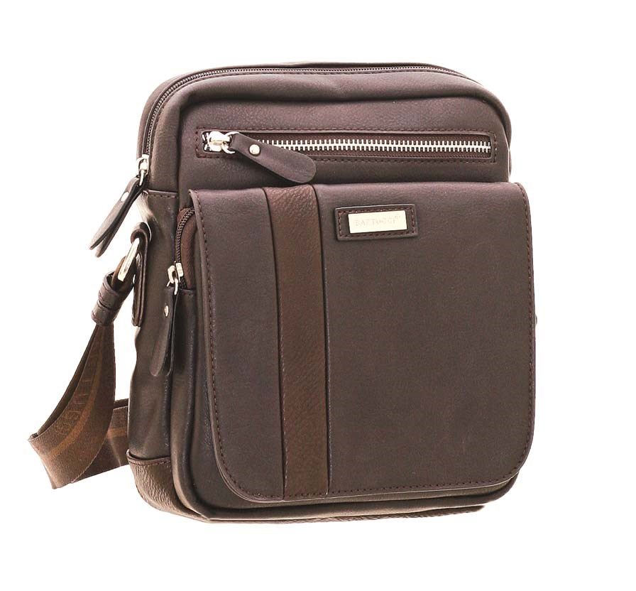 4a026c22c0 Bartuggi ανδρική τσάντα ταχυδρόμου καφέ