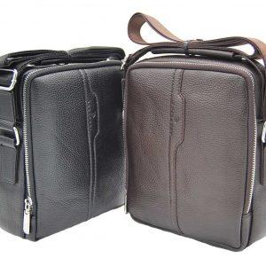 Bartuggi ανδρική τσάντα ταχυδρόμου καφέ