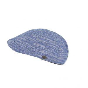 Ανδρική τραγιάσκα με ρίγες Karfil μπλε