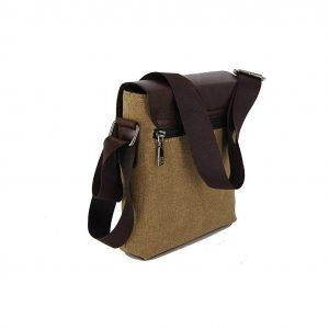 Bartuggi ανδρική τσάντα ταχυδρόμου μπεζ
