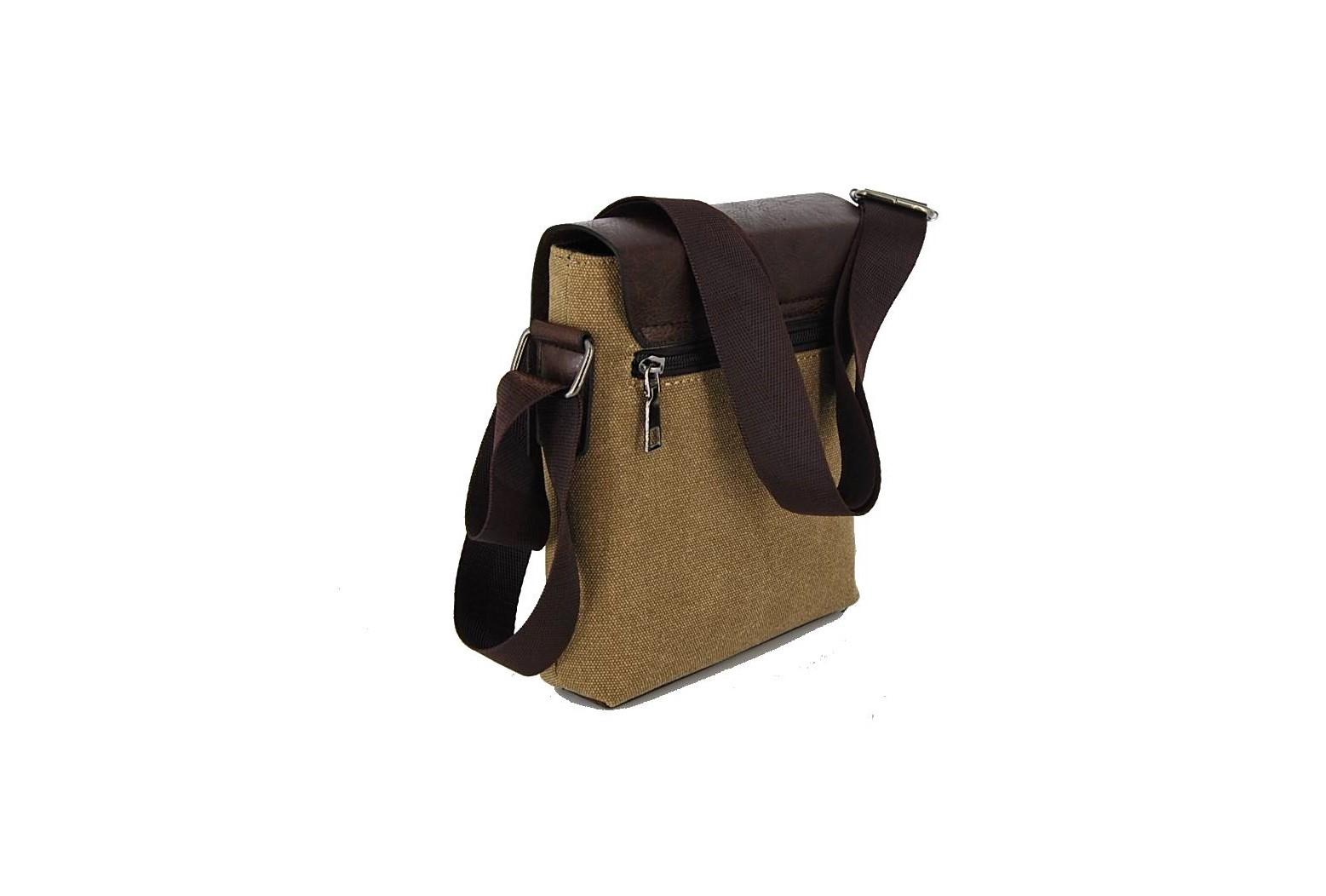 95d1adc548 Bartuggi ανδρική τσάντα ταχυδρόμου μπεζ