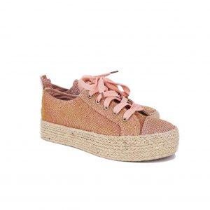 Verde sneaker γυναικείο ροζ-χρυσό