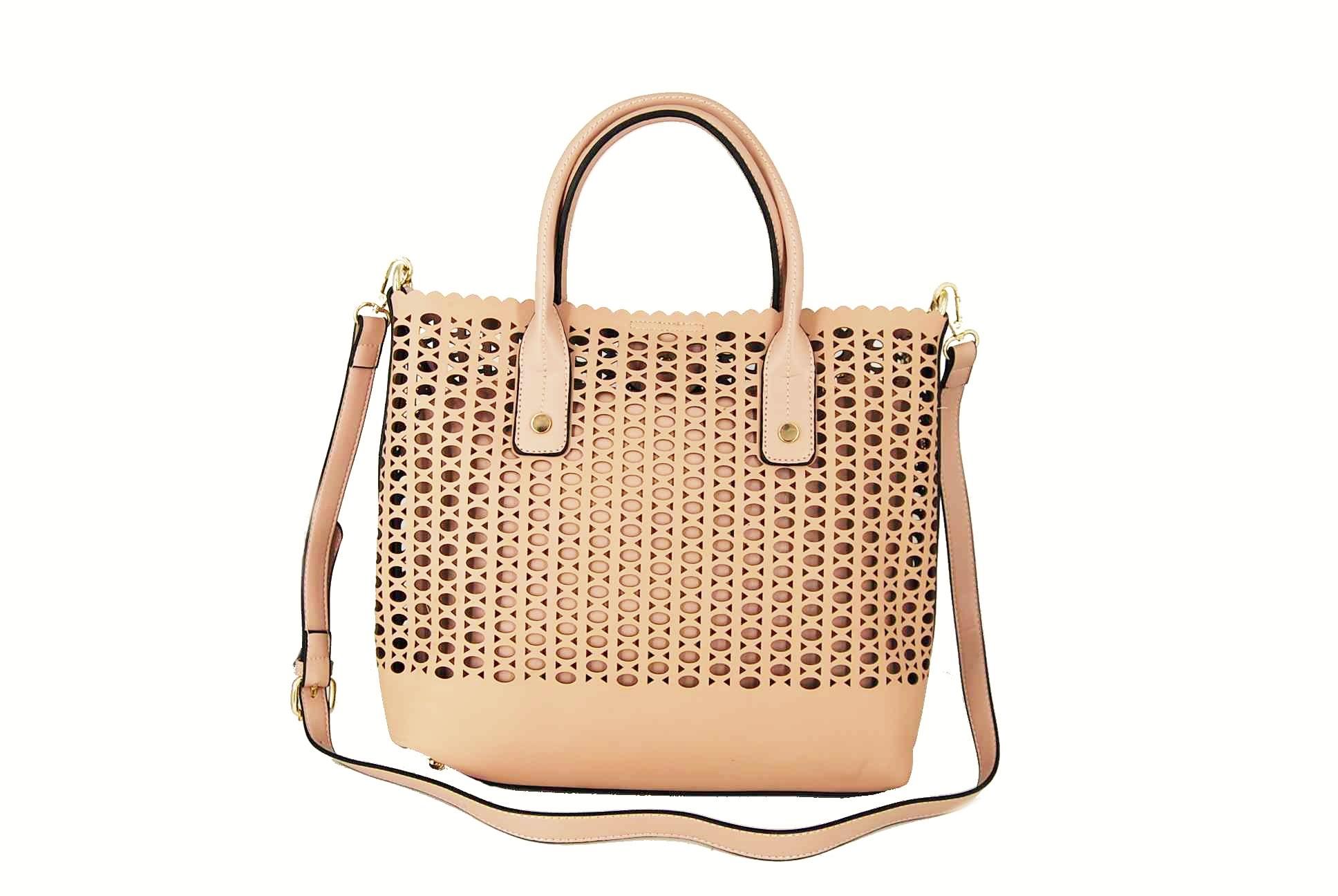 06250d37b1 Verde τσάντα γυναικεία χεριού και χιαστί ροζ