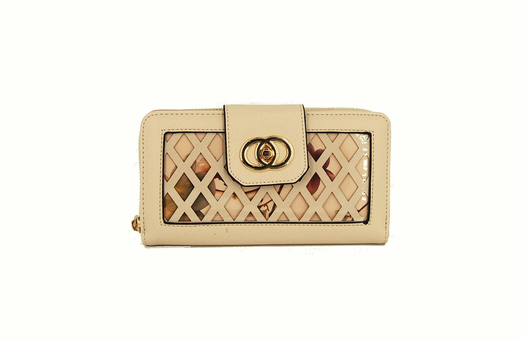 aa1a097d12 Verde πορτοφόλι γυναικείο μπεζ