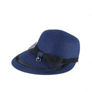 Verde καπέλο ψάθινο γυναικείο μπλε