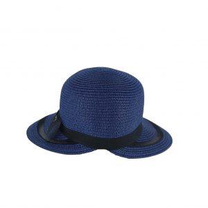 Γυναικείο ψάθινο καπέλο Verde μπλε