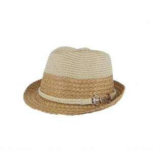 Verde καπέλο γυναικείο ψάθινο καμηλό με άγκυρα