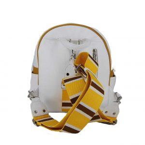 Doca σακίδιο πλάτης γυναικείο άσπρο-κίτρινο