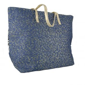 eadc0d84a6 ... Verde τσάντα θαλάσσης γυναικεία τρίχρωμη (γκρι-ασημί-μπλε)