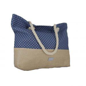 81d7d9a620 Doca τσάντα θαλάσσης γυναικεία ψάθινη μπεζ. €40.20. Verde τσάντα θαλάσσης  γυναικεία μπλε πουά ...