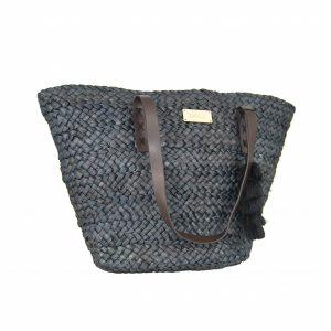 31bf0df23f Doca τσάντα θαλάσσης γυναικεία ψάθινη μαύρη