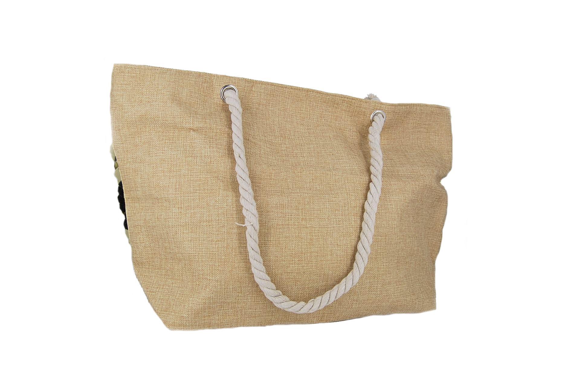 b82c9c0763 Doca τσάντα θαλάσσης γυναικεία χρυσές πούλιες