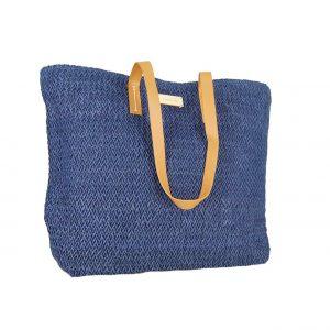 f68dbd0740 Doca τσάντα θαλάσσης γυναικεία ψάθινη μπλε ...