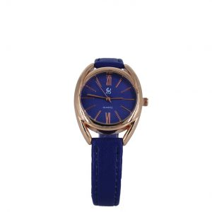 Εισαγωγική γυναικείο ρολόι ροζ-χρυσό με μπλε-μωβ λουράκι