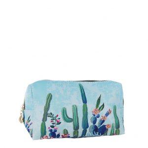 Εισαγωγική γυναικείο νεσεσέρ σχέδιο με κάκτους σε γαλάζιο χρώμα medium