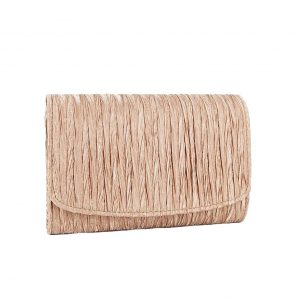 Verde αμπιγιέ βραδινό taupe τσαντάκι-clutch