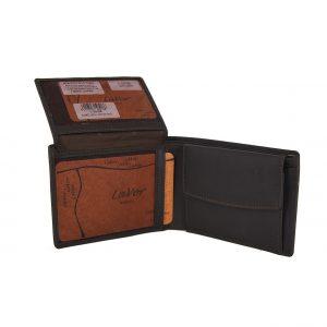 Lavor ανδρικό δερμάτινο πορτοφόλι καφέ ταυτότητας