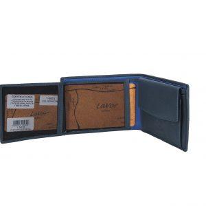 Lavor ανδρικό δερμάτινο πορτοφόλι μπλε ταυτότητας