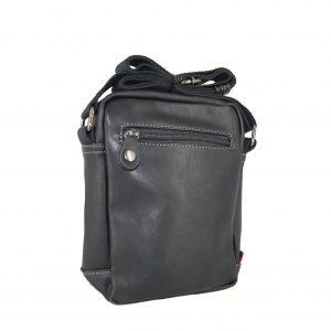 Bartuggi ανδρική τσάντα ταχυδρόμου μαύρη