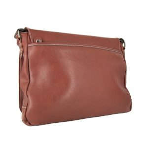 Bartuggi ανδρική τσάντα ταχυδρόμου καφέ για Α4