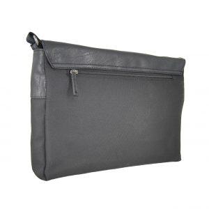 Bartuggi ανδρική τσάντα ταχυδρόμου μαύρη για Α4