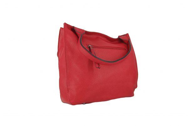 Verde τσάντα γυναικεία ώμου κόκκινο με ζωνάκι