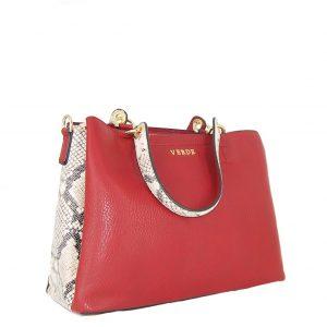 Verde τσάντα γυναικεία χεριού και χιαστί κόκκινη με animal print