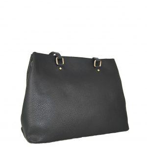 Verde τσάντα ώμου γυναικεία μαύρο με εσωτερικό χώρισμα
