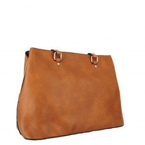 Verde τσάντα ώμου γυναικεία καμηλό με εσωτερικό χώρισμα