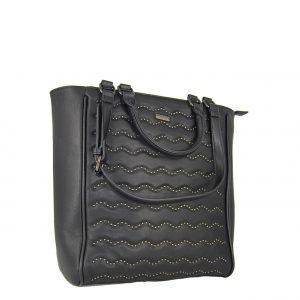 Doca τσάντα ώμου και χεριού γυναικεία μαύρη με τρουξ