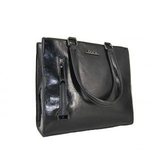 Doca τσάντα ώμου γυναικεία μαύρη με εξωτερική θήκη