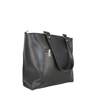 Doca τσάντα ώμου γυναικεία μαύρη με ιδιαίτερη υφή