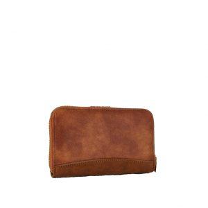 Verde πορτοφόλι γυναικείο καμηλό με τύπωμα φιδιού