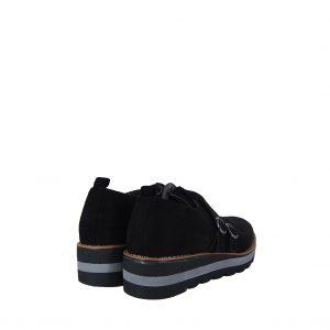 Verde γυναικείο παπούτσι μαύρο καστόρι