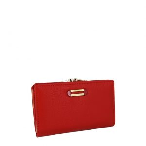 Verde πορτοφόλι γυναικείο κόκκινο