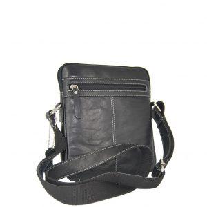 Ginis ανδρική τσάντα ταχυδρόμου μαύρη
