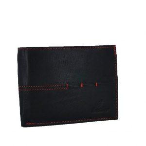 Ginis ανδρικό δερμάτινο πορτοφόλι μαύρο (ταυτότητα)