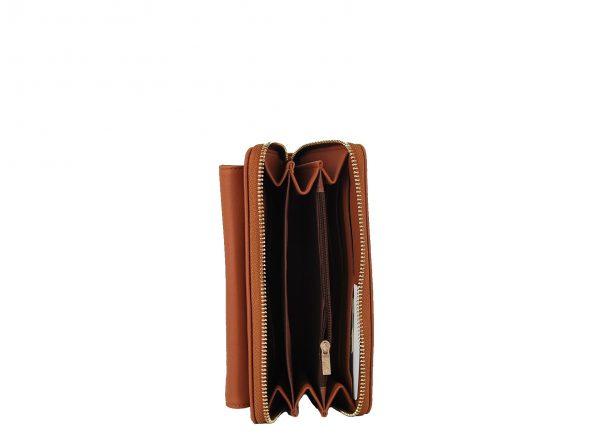 Verde πορτοφόλι γυναικείο καμηλό με αποσπώμενο λουράκι