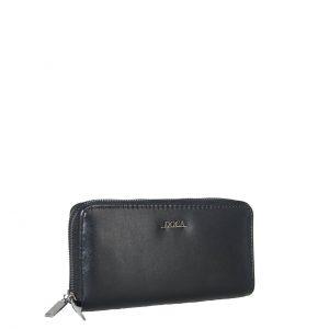 Doca πορτοφόλι γυναικείο μαύρο με διπλό φερμουάρ