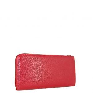 Doca πορτοφόλι γυναικείο κόκκινο με καρδιά