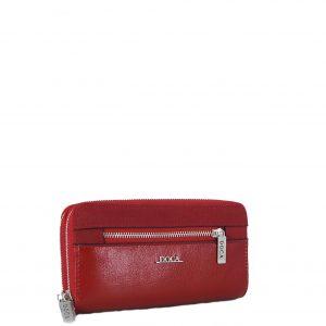 Doca πορτοφόλι γυναικείο κόκκινο με διπλό φερμουάρ