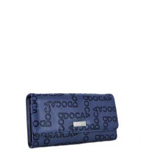 Doca πορτοφόλι γυναικείο μπλε με τύπωμα λογότυπο