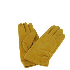 Verde γάντι κίτρινο γυναικείο καστόρι με εσωτερική επένδυση φλις