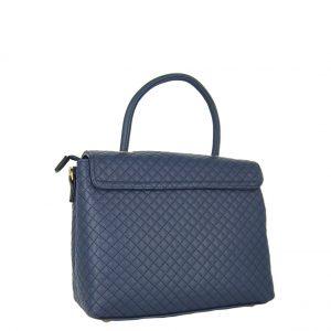 Verde τσάντα χεριού και χιαστί γυναικεία μπλε με ιδιαίτερο κούμπωμα.