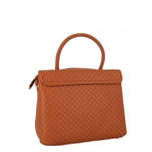 Verde τσάντα χεριού και χιαστί γυναικεία καμηλό με ιδιαίτερο κούμπωμα.