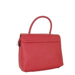 Verde τσάντα χεριού και χιαστί γυναικεία κόκκινο με ιδιαίτερο κούμπωμα.
