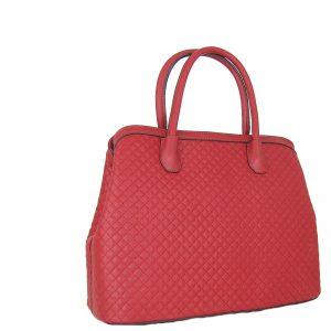 Verde τσάντα χεριού και χιαστί γυναικεία κόκκινο με 3 κεντρικές θήκες