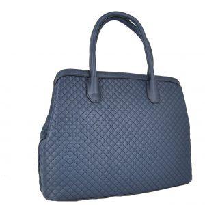 Verde τσάντα χεριού και χιαστί γυναικεία μπλε με 3 κεντρικές θήκες