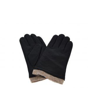 Verde γάντια ανδρικά δερμάτινα μαύρα