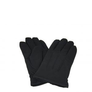 Verde γάντια ανδρικά μαύρα με εσωτερική επένδυση γούνα